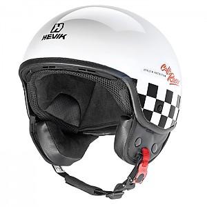 카페레이서 하프페이스 헬멧 - HHV9FCFRC